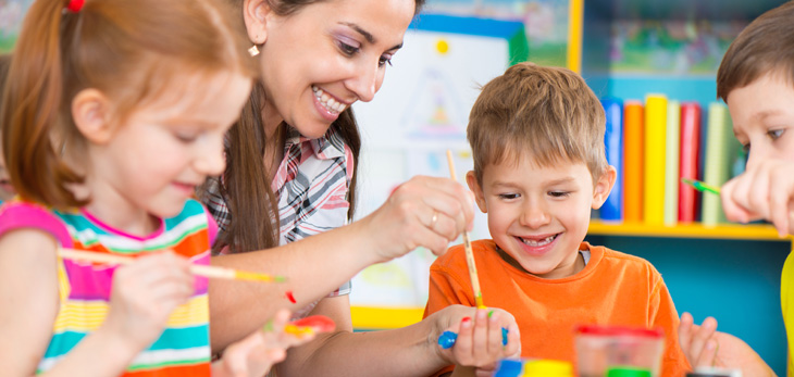 Children Learning at Childcare Centre